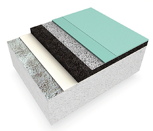animal pad and pour flooring detail image