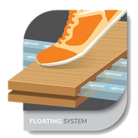 floating system icon - floor system technology