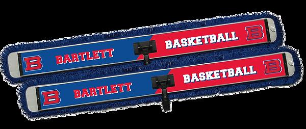 Barlett College logo printed on 48in x 6in custom specialty microfiber mop