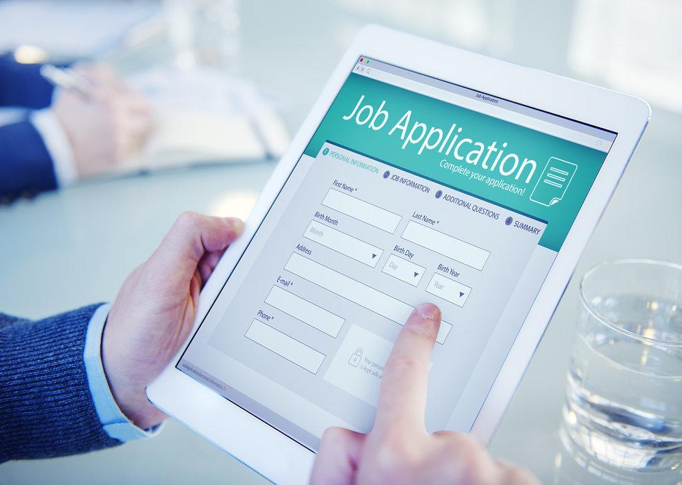 Applicant Filling Up the Online Job Appl