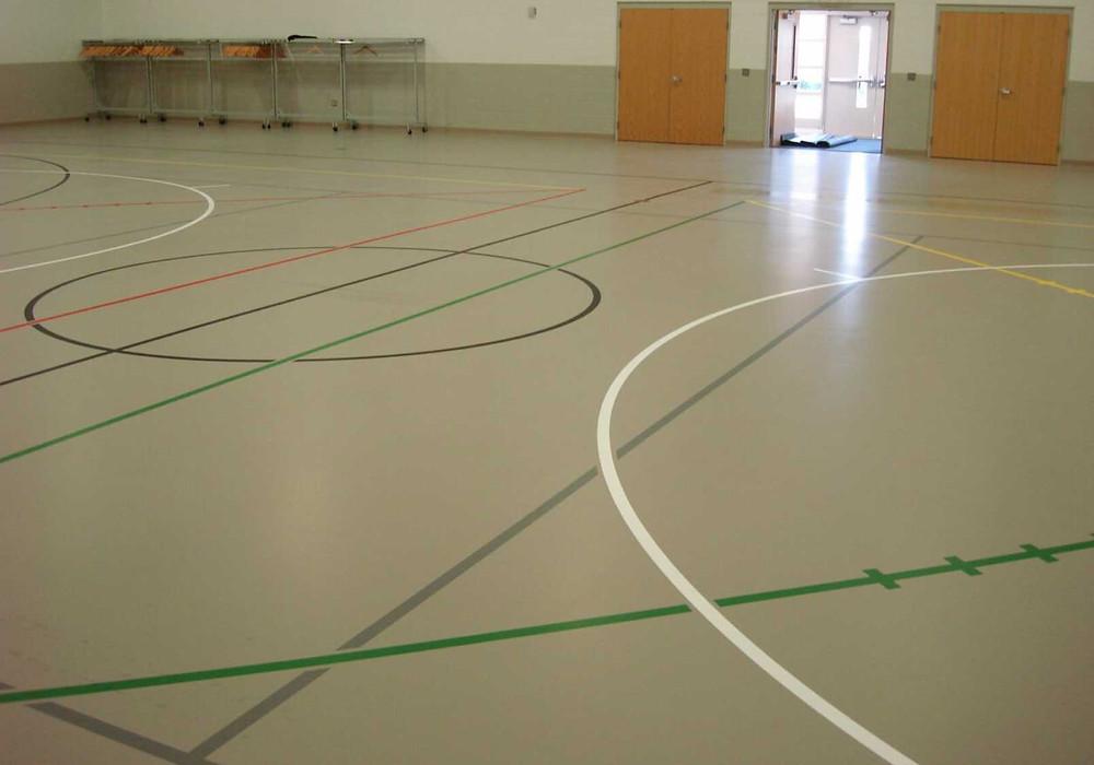 Hunters Creek Community Church located in Lapeer, Michigan synthetic gymnasium flooring