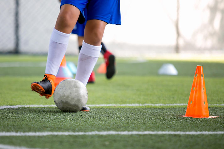 Synthetic turf flooring placed at indoor soccer facility  Foster Specialty Floors