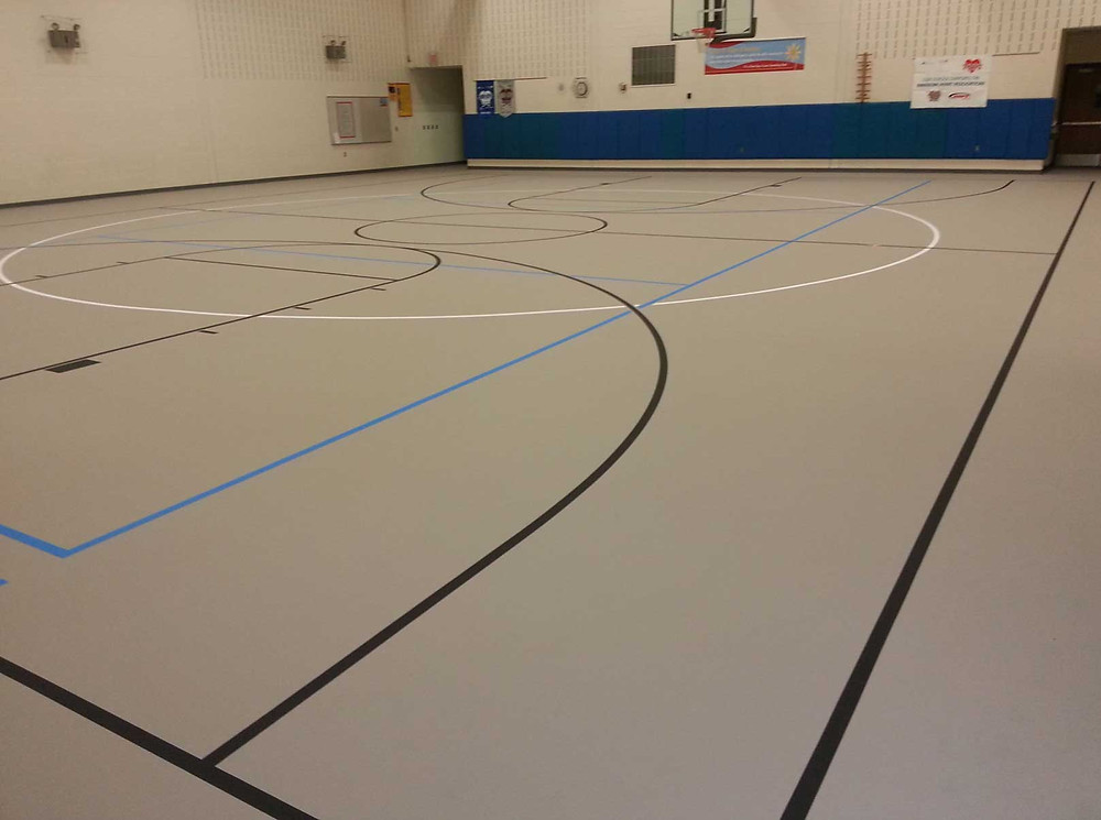 Klager Elementary located in Manchester, Michigan pulastic gymnasium flooring