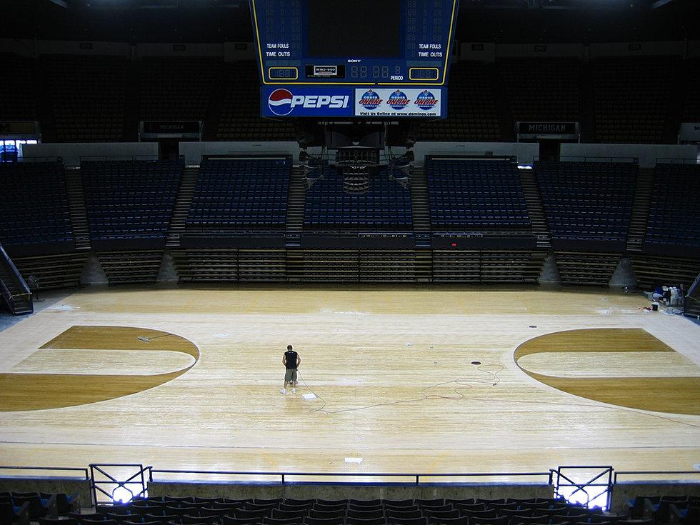 Hardwood And Rubber Sports Flooring Gym Floor Maintenance