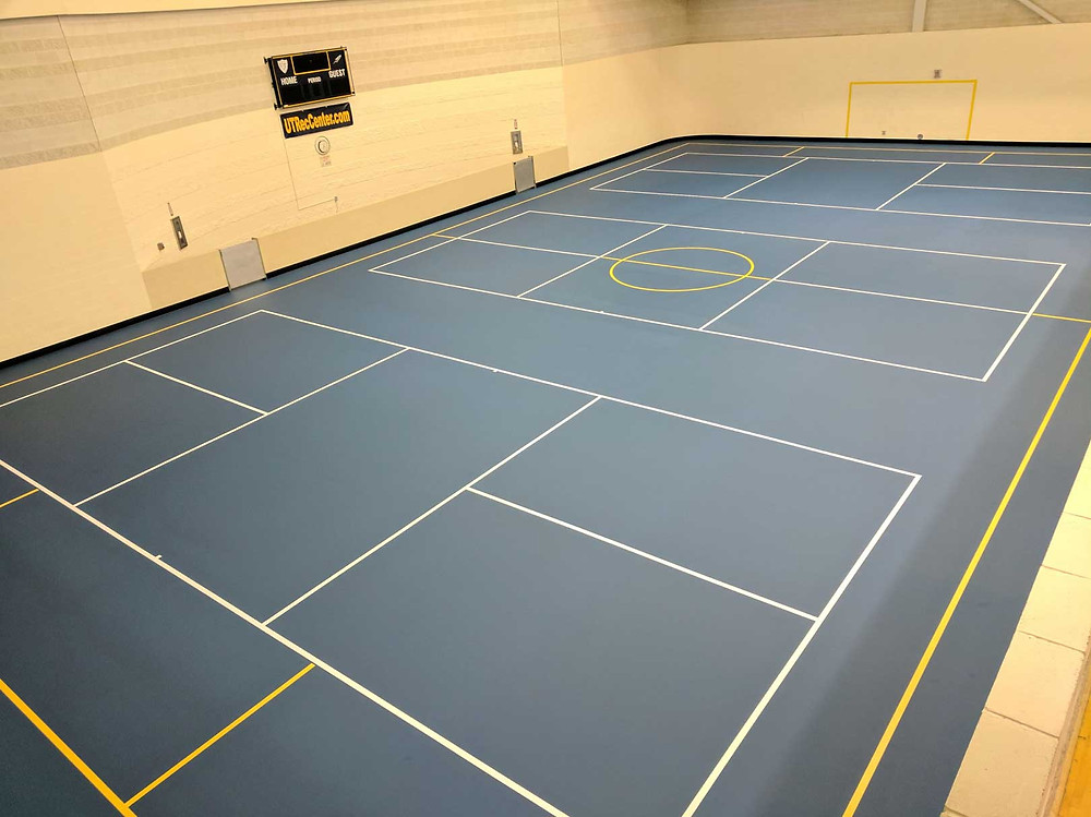 University of Toledo located in Toledo, OH Pulastic Recreation Center flooring