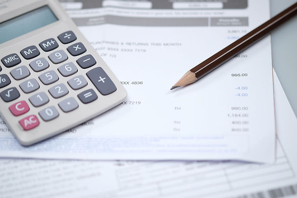 Tools needed for accounting finances. Calculator and pencil. Contact our accounting department