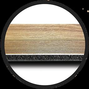 Ecore Bounce 2 circle wood vinyl detail