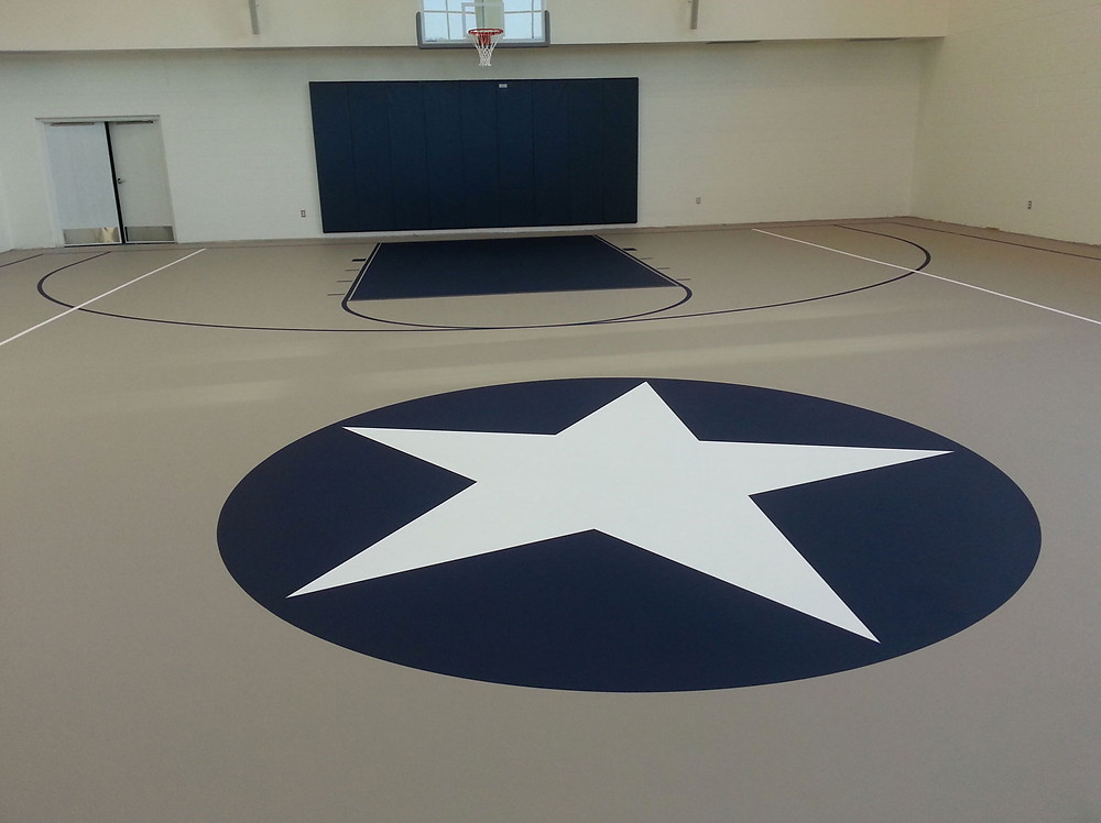 Silver Star Apartments located in Battle Creek, Michigan pulastic gymnasium flooring