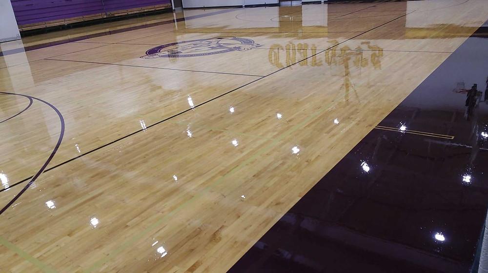 Inter-city Baptist located in Allen Park, Michigan gymnasium flooring