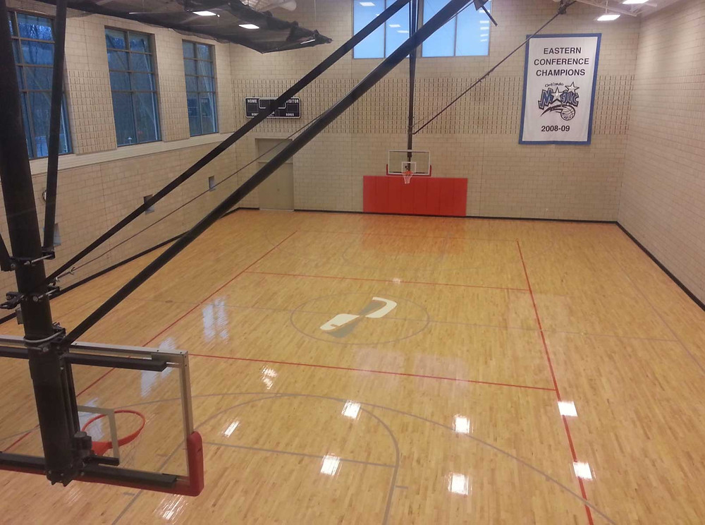 Foxwood Loft wood located in Michigan gymnasium flooring