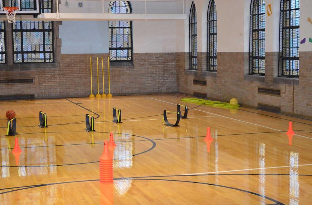 Bethlehem United located in Ann Arbor, Michigan wood gymnasium flooring
