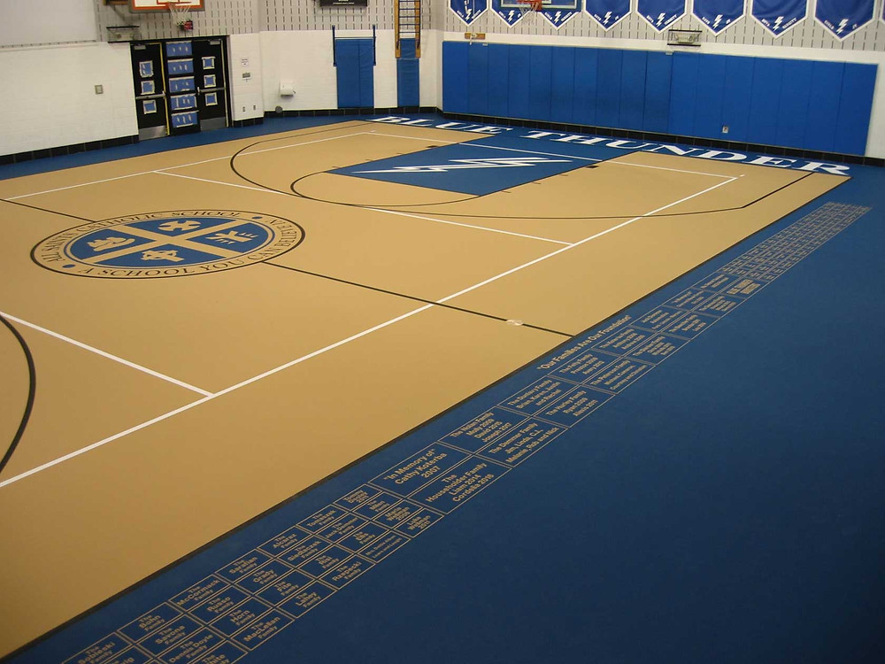 All Saints Elementary located in Michigan pulastic gymnasium flooring