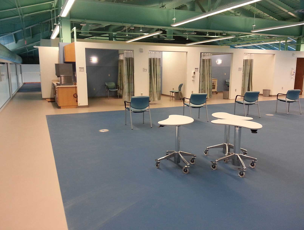 Duke Medicine located in Durham, North Carolina synthetic flooring
