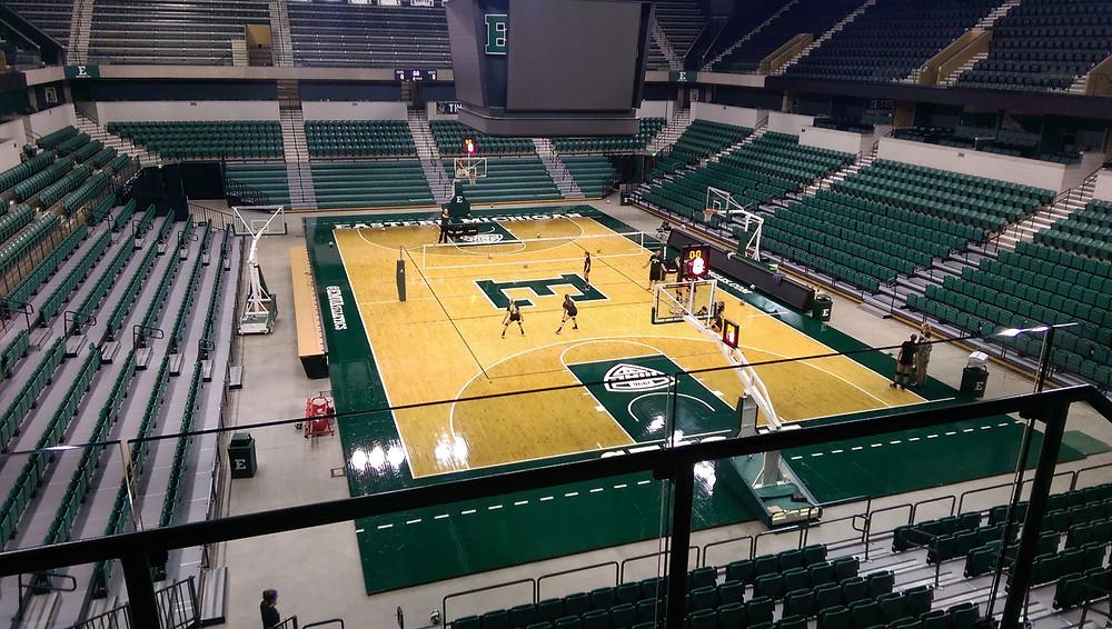 Eastern Michigan University located in Ypsilanti, Michigan Air Channel Classic Aux wood gymnasium flooring