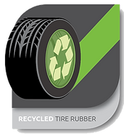 RECYCLED TIRE RUBBER - floor system technology