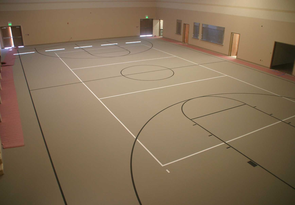 Concord Community Church synthetic gymnasium flooring