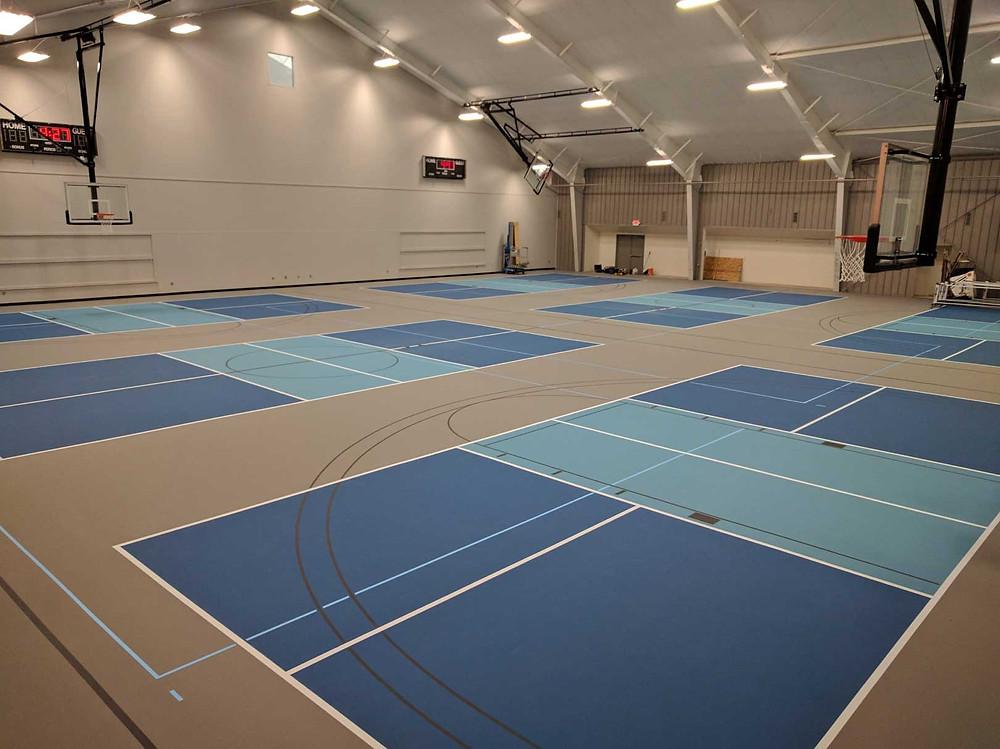 Lansing Court One North located in Lansing, Michigan Pulastic gymnasium flooring