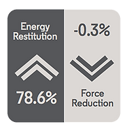 FRICTIONAL ENERGY DETAIL -Energy Restition 78.6% and Forc Reduction -0.3%