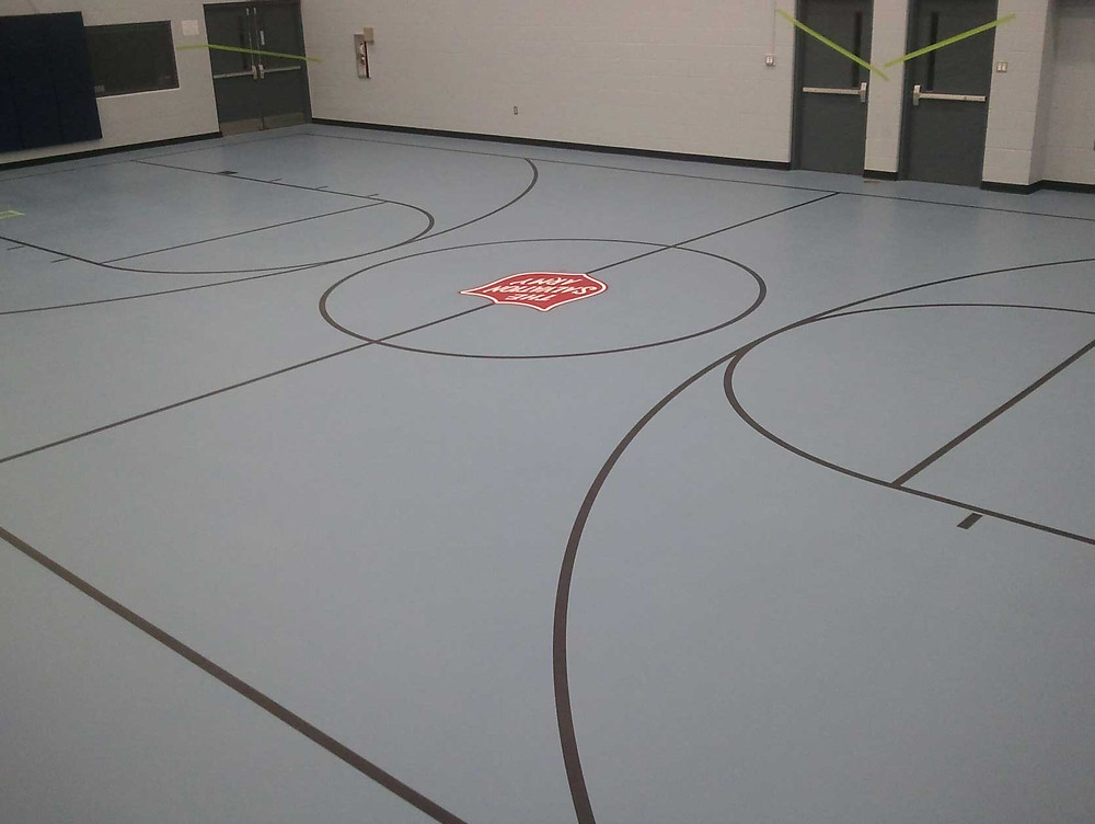 Jackson Salvation Army located in Jackson, Michigan pulastic gymnasium flooring