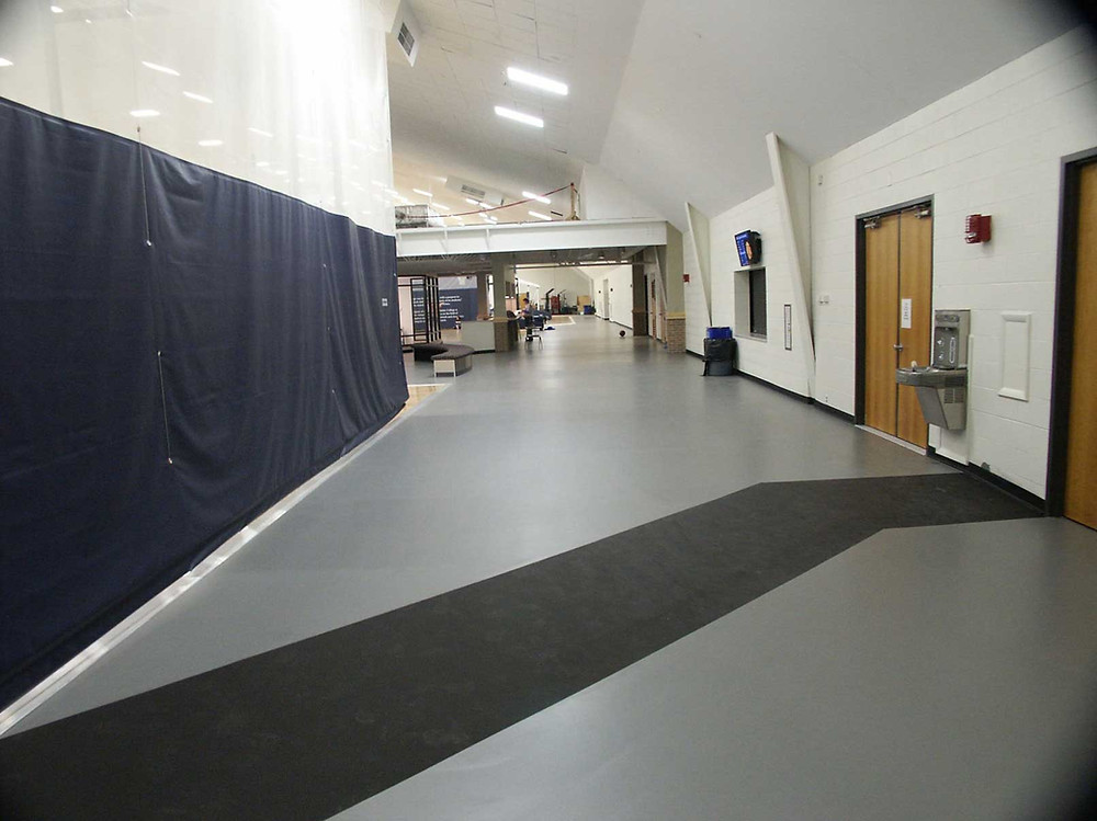 Hillsdale College Corridor located in Hillsdale, Michigan Galaxy Fit flooring