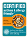 CERTIFIED ASHTHMA FRIENDLTY logo