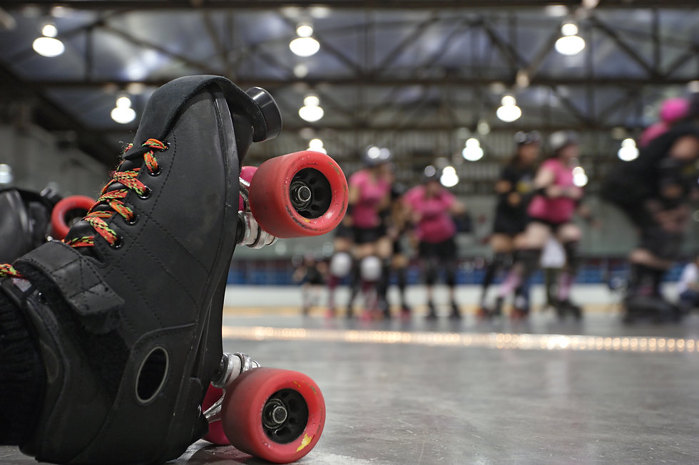 An abstract image of the roller-skates o