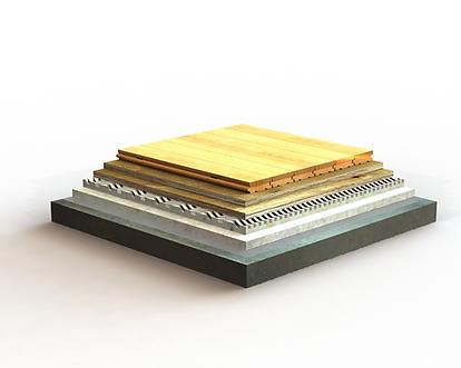 LE LENA STUDIO A wood flooring detail