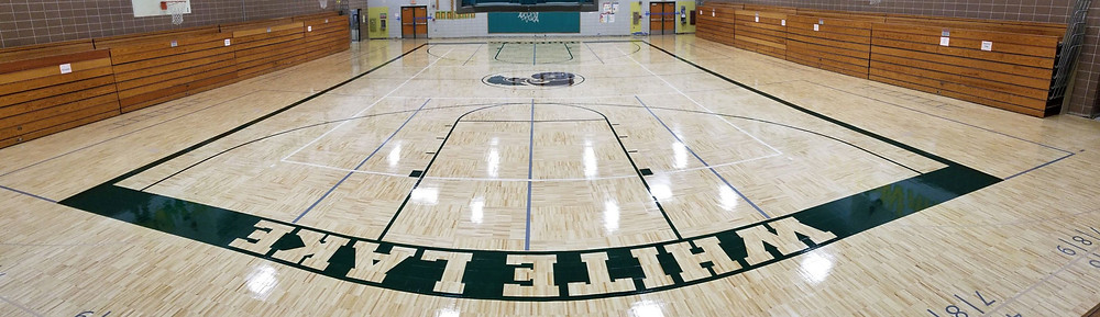 White Lake Middle School located in White Lake Michigan new Sportwood Ultra Star gymnasium flooring