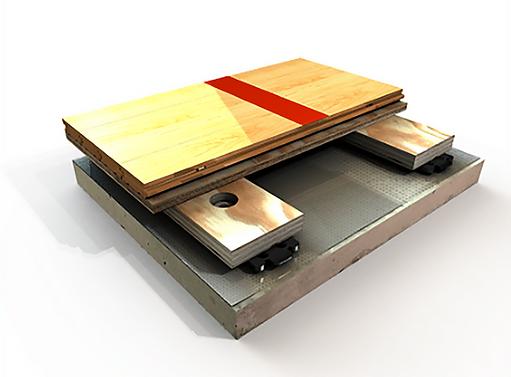 air channel star wood floor detail