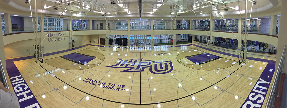 High Pointe University located in High Point North Carolina new Bio Cushion Classic gymnasium floor