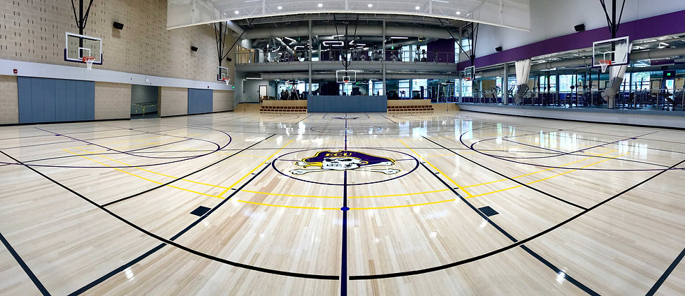 Foster Specialty Floors Robbins Sports Surface wood gymnasium flooring at High Point University