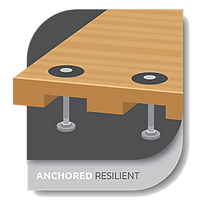 anchored resilient floor system technology