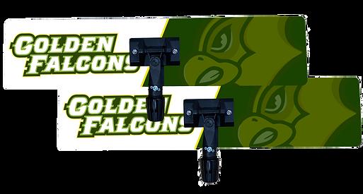 Golden Falcon logo printed on 26in x 6in custom specialty sweat mop