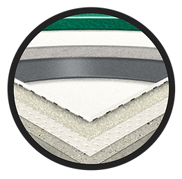 Omnisport Badmintong vinyl flooring close up detail