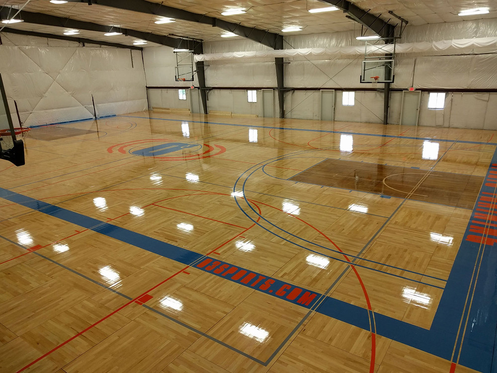 One on One Training located in Michigan portable wood gymnasium flooring