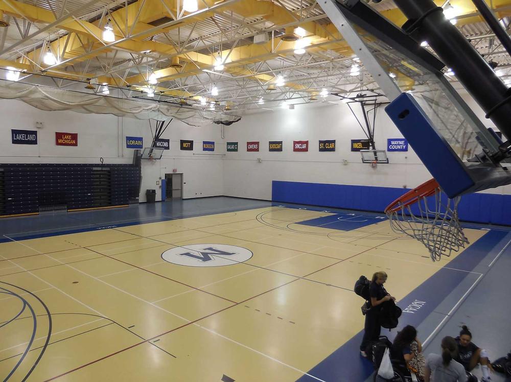 Macomb Community College located in Warren, Michigan synthetic gymnasium flooring