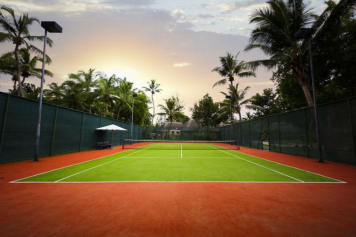 a tennis court, the Seychelles islands.j