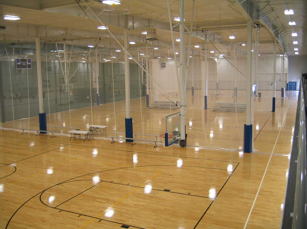 More Courts Recreation Center located in Mt. Pleasant, Michigan wood flooring
