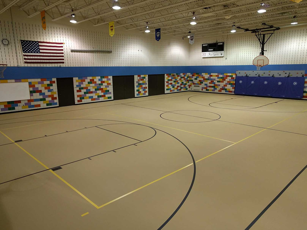 St. Ann Catholic Church located in Cadillac, Michigan Pulastic gymnasium flooring