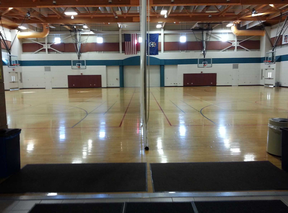 Monroe County Community College located in Monroe, Michigan wood flooring