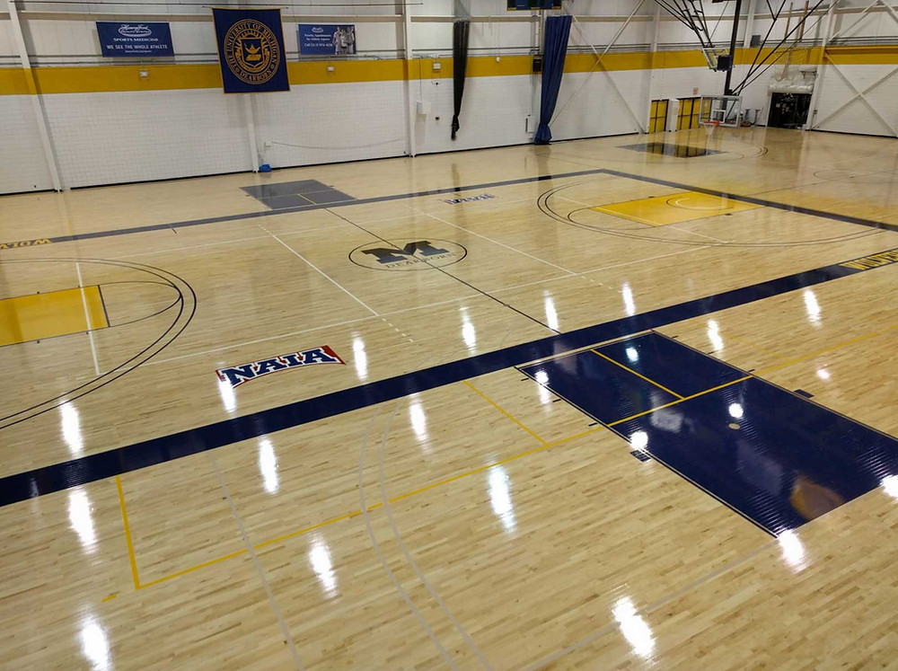 University of Michigan Dearborn located in Dearborn, Michigan Bio Cushion Classic wood gymnasium flooring