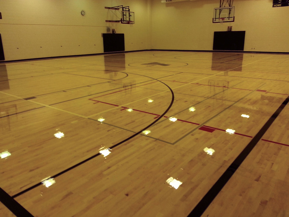 Cole Family YMCA located in Kendallville, Indiana wood gymnasium flooring