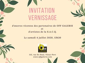 Vernissage OFF Galerie 4 juillet 2020