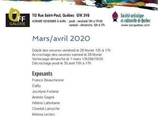 Exposition SACQ, Mars-Avril