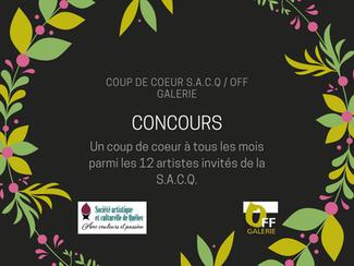 Concours Coup de coeur S.A.C.Q/OFF Galerie