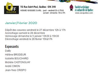 Exposition SACQ Janvier et Février 2019