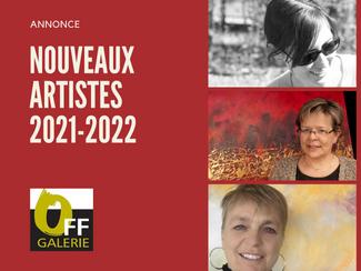 ARRIVEE DE 3 NOUVEAUX ARTISTES