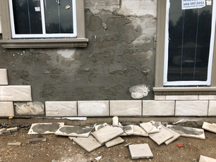 Don't Let this happen to your exterior! Stonetile tiles are hung with galvanized screws engineer