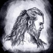 Viking man sketch