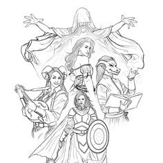 D&D Group line drawing